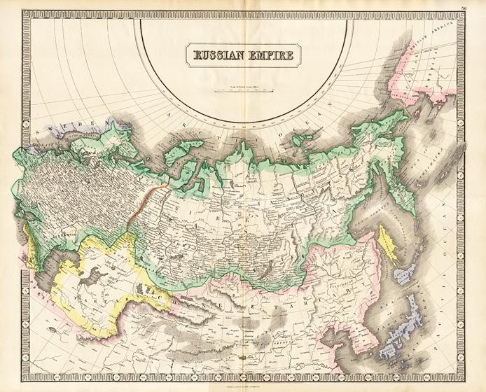 ebf2067002970 Полная карта Российской Империи, включающая Аляску - купить в ...